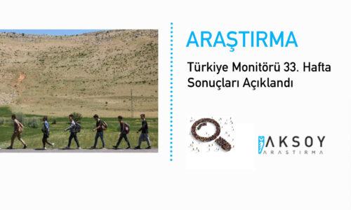 Türkiye Monitörü 33. Hafta Sonuçları Açıklandı